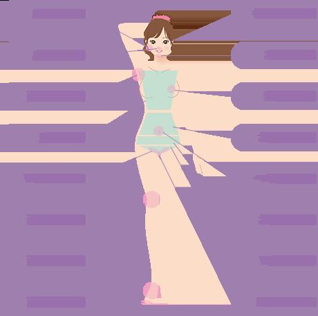 脱毛可能箇所:ほほ、もみあげ、鼻下、あご、両ワキ、乳輪、胸、お腹上、お腹下、Vライン、V全体、Iライン、へそ周り、両ヒザ、両足甲、両足指